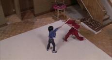 Kane (Kane Kosugi) gegen Cathy (Ashley Ferrare)