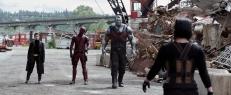Negasonic Teenage Warhead (Brianna Hildebrand), Deadpool und Colossus (Stefan Kapicic)