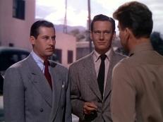Eddie Bendix (John Hodiak) und Johnny Ryan (Wendell Corey)