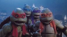 Raphael (Kenn Scott), Leonardo (Mark Caso), Donatello (Leif Tilden) und Michelangelo (Michelan Sisti)