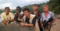 Saunders (George Hilton), Washington (Tony King), Bill (Ivan Rassimov), Klaus (Stefano Mingardo) und Mike (Christopher Connelly)