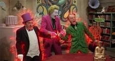 Der Pinguin, der Joker (Cesar Romero) und der Riddler (Frank Gorshin)