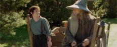 Frodo (Elijah Wood) und Gandalf (Ian McKellen)