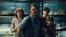 Claire (Bryce Dallas Howard), Owen (Chris Pratt), Zach (Nick Robinson) und Gray (Ty Simpkins)