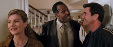 Lorna (Rene Russo), Roger (Danny Glover) und Martin (Mel Gibson)